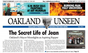 Oakland Unseen front page