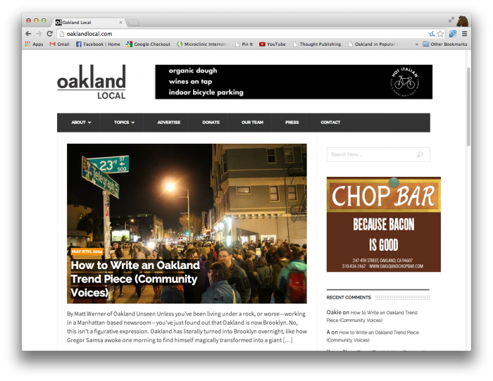 How to write an Oakland trend piece - Matt Werner