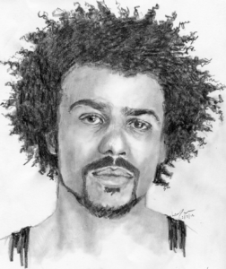 Daveed Diggs portrait by Laura Tomlinson